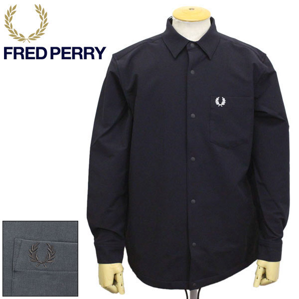 正規取扱店 FRED PERRY (フレッドペリー) F4535 Coach Jacket Shirt コーチジャケット シャツ 全2色 FP350