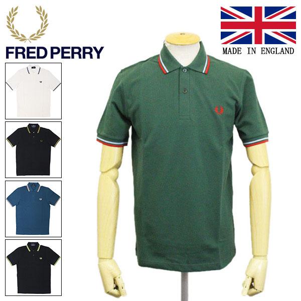 正規取扱店 FRED PERRY (フレッドペリー) M12N TWIN TIPPED FP SHIRT ライン入りポロシャツ イングランド製 全5色 FP390