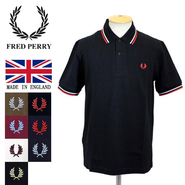 正規取扱店 FRED PERRY (フレッドペリー) M12N TWIN TIPPED FP SHIRT (ライン入りポロシャツ) イングランド製 全7色 FP264