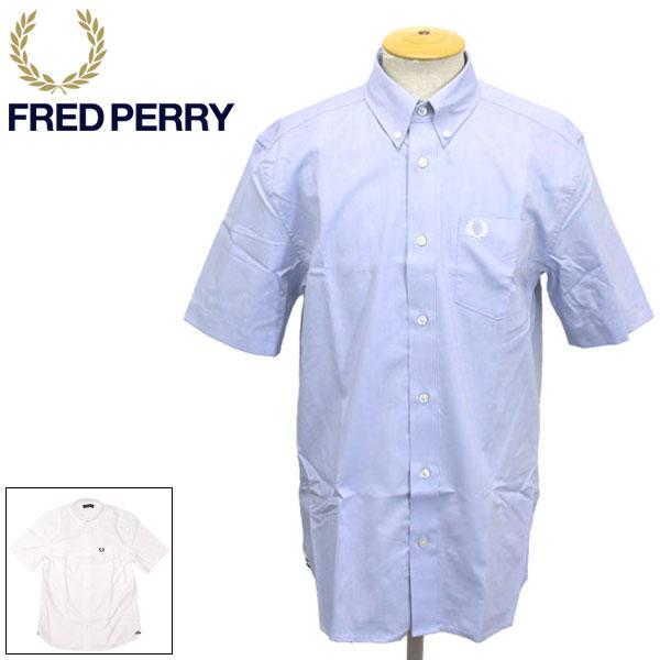 正規取扱店 FRED PERRY (フレッドペリー) M8502 SHORT SLEEVE OXFORD SHIRT 半袖 オックスフォードシャツ 半袖 全2色 FP374