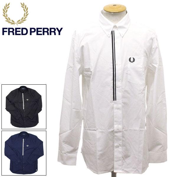 正規取扱店 FRED PERRY (フレッドペリー) M8562 TAPED PLACKET SHIRT テーププラケットシャツ 全3色 FP376