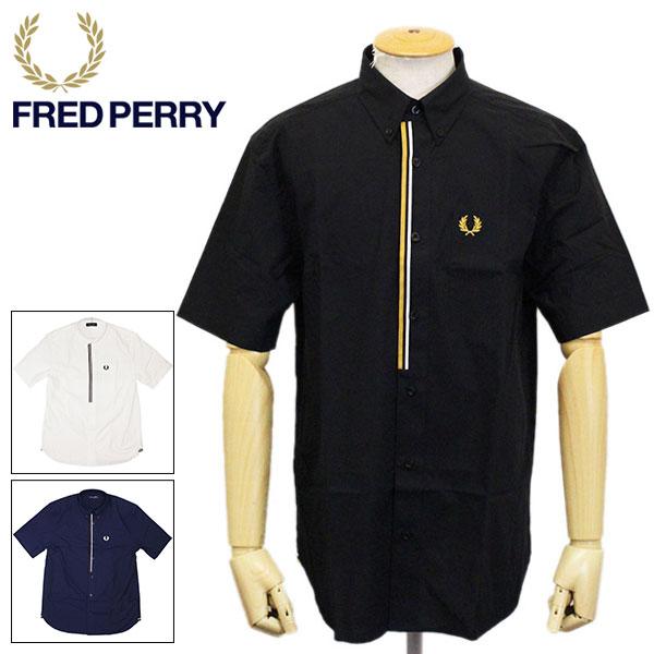 正規取扱店 FRED PERRY (フレッドペリー) M8571 TAPED PLACKET SHIRT テーププラケット ボタンダウンシャツ 全3色 FP394