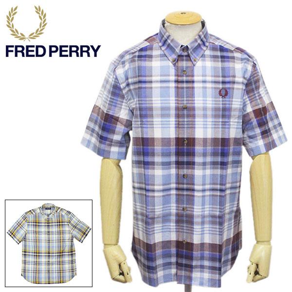 正規取扱店 FRED PERRY (フレッドペリー) M8581 TARTAN SHIRT タータンチェックシャツ 全2色 FP396
