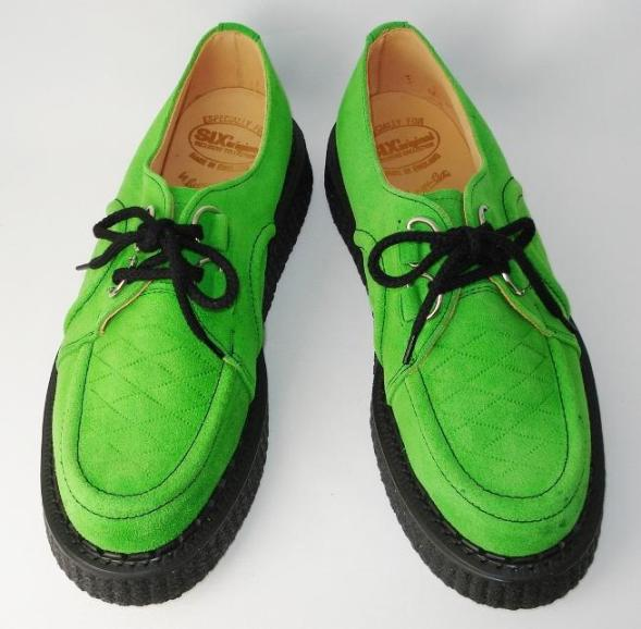 Shipping & cash on delivery fee free regular Agency George Cox (George Cox) DEIS rubber sole with Dace V GIBSON 666 double name Apple green suede fs3gm