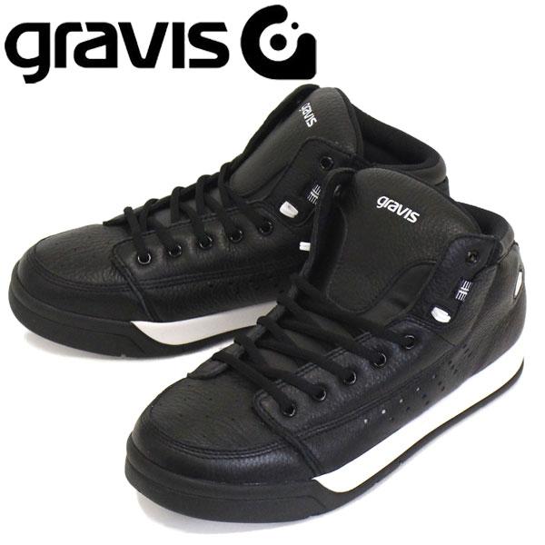 正規取扱店 gravis (グラビス) TARMAC HC DLX ターマック HC DLX ハイカットスニーカー BLACK/WHITE GRV003