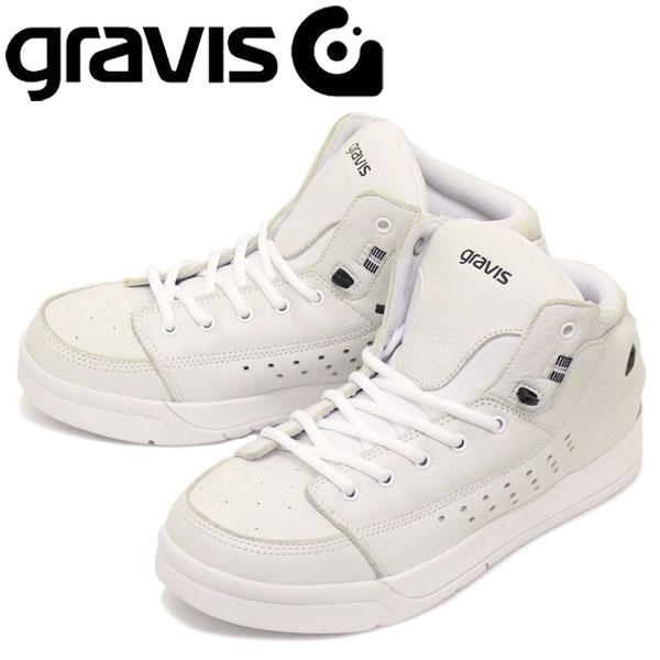 6c58b18065262 正規取扱店gravis(グラビス)TARMACHCDLXターマックHCDLXハイカットスニーカーWHITE/BLACKGRV004