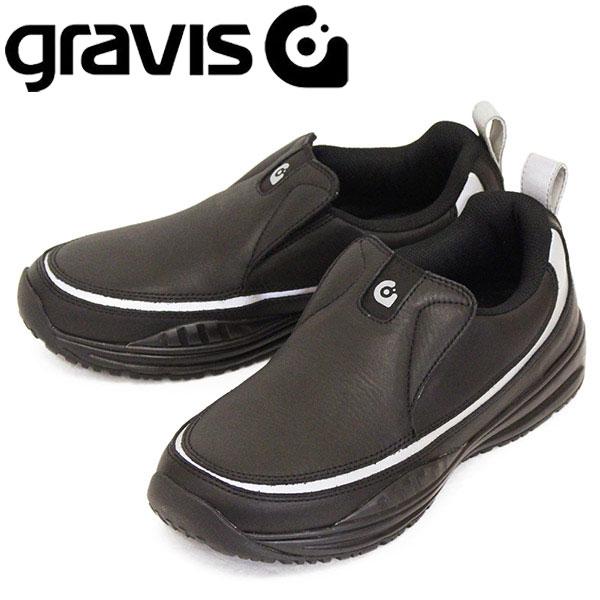 正規取扱店 gravis (グラビス) 05051 CUE キュー スリッポン スニーカー BLACK / SILVER GRV010