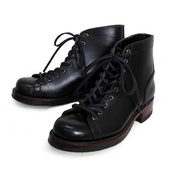 正規取扱店 HTC(Hollywood Trading Company) SANTA ROSA(サンタローサ) #ALAMEDA LACE UP BOOTS(レースアップブーツ) BLACK ブラック