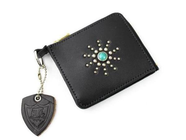 正規取扱店 定番 HTC Hollywood Trading Company #STARBURST スターバースト CARD TYPE 日本限定 5 ブラックxターコイズ CASE カードケース