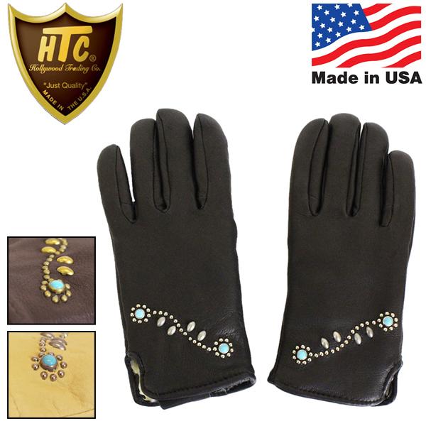 正規取扱店 HTC(Hollywood Trading Company) Geier Glove ガイヤーグローブ 200LDP #SN-32 Turquoise ディアスキン ボア付き 全3色