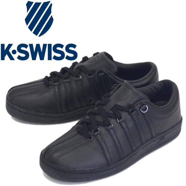 正規取扱店 K-SWISS (ケースイス) 36022483 CLASSIC 88 クラシック 88 レザースニーカー BLACK/BLACK (ALL BLACK) KS037