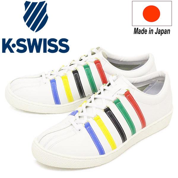 正規取扱店 K-SWISS (ケースイス) 36100310 CLASSIC 66 JPN TYO クラシック メンズ レザースニーカー White/Multi KS068