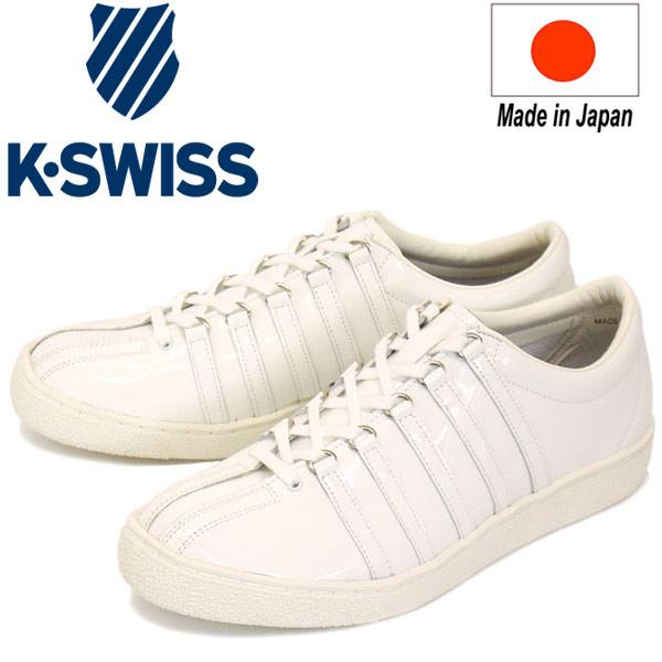 正規取扱店 限定 日本製 K-SWISS (ケースイス) Classic(クラシック) 66 JPN ENM スニーカー White x Cloud Cream KS009