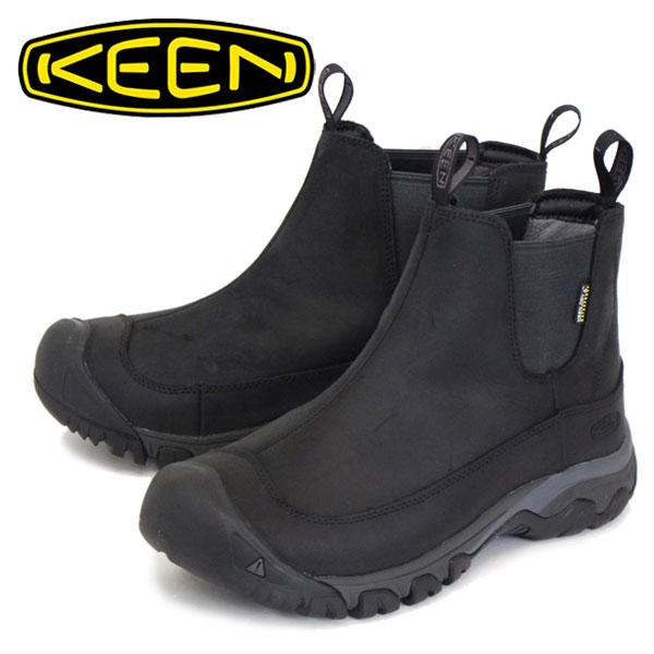 正規取扱店 KEEN (キーン) MEN'S 1017789 Anchorage Boot 3 WP アンカレッジ ブーツ Black/Raven KN236