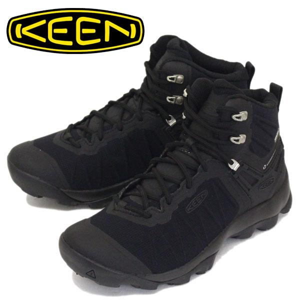 正規取扱店 KEEN (キーン) 1021168 Men's VENTURE MID WP ヴェンチャー ミッド ウォータープルーフ BLACK/BLACK KN358