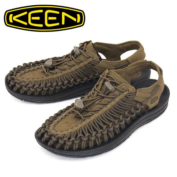 正規取扱店 KEEN (キーン) 1023381 Men's UNEEK ユニーク サンダル DARK OLIVE/BLACK KN449