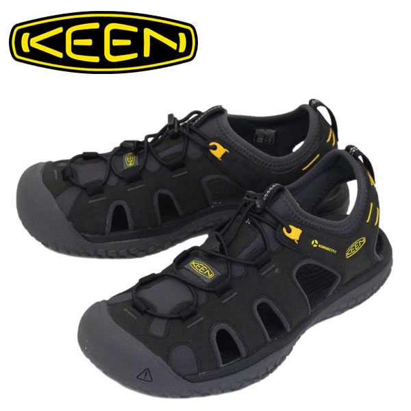 正規取扱店 KEEN (キーン) 1022246 Men's SOLR SANDAL ソーラー サンダル BLACK/GOLD KN451