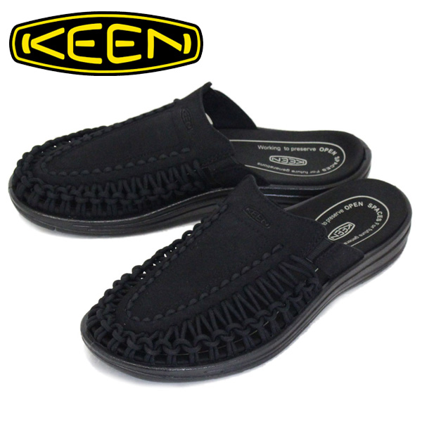 正規取扱店 KEEN (キーン) 1022371 Men's UNEEK II SLIDE ユニーク ツー スライド サンダル BLACK/BLACK KN456