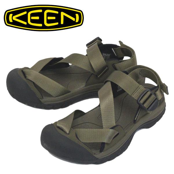 正規取扱店 KEEN (キーン) 1022420 Men's ZERRAPORT II ゼラポート ツー ストラップサンダル DARK OLIVE/BLACK KN466