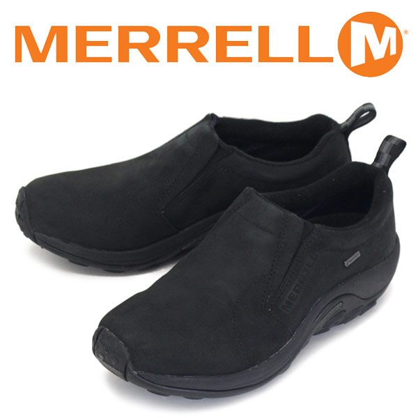 正規取扱店 MERRELL (メレル) J42301 JUNGLE MOC GORE-TEX ジャングルモック ゴアテックス ヌバックレザーシューズ BLACK MRL014