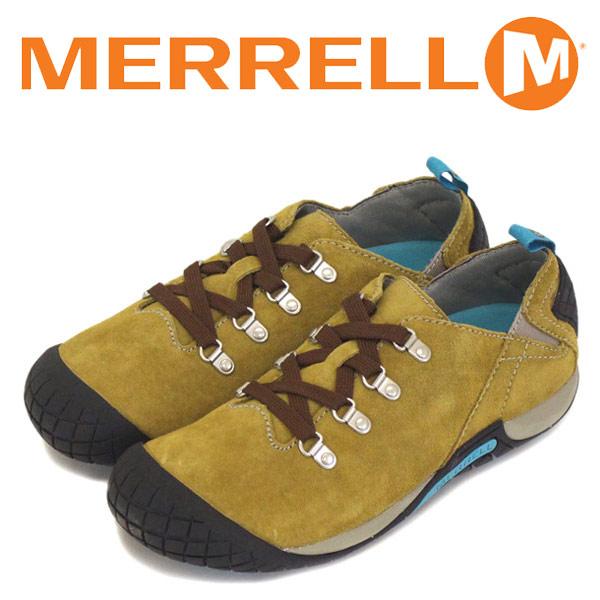 正規取扱店 MERRELL (メレル) J55976 ウィメンズ PATHWAY LACE パスウェイ レース スエードレザーシューズ ANTELOPE MRL020