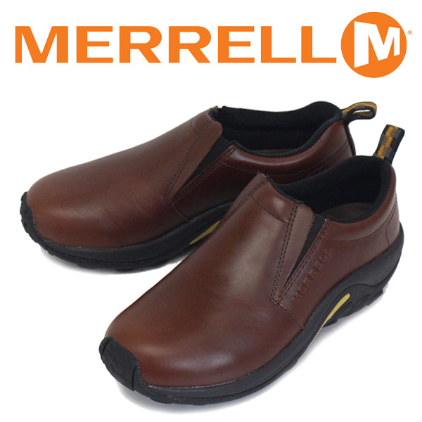 正規取扱店 MERRELL (メレル) J567117 JUNGLE MOC LEATHER ジャングルモック スムースレザーシューズ DARK BROWN MRL012