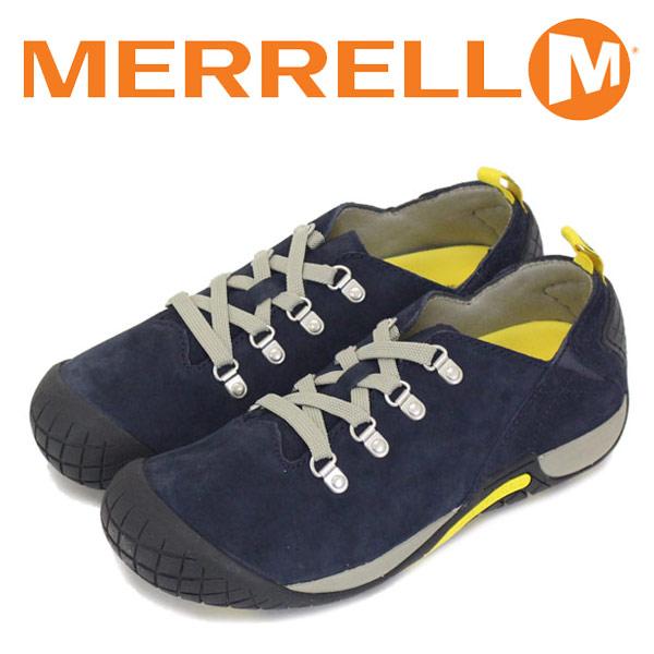 正規取扱店 MERRELL (メレル) J575460 ウィメンズ PATHWAY LACE パスウェイ レース スエードレザーシューズ NAVY MRL018