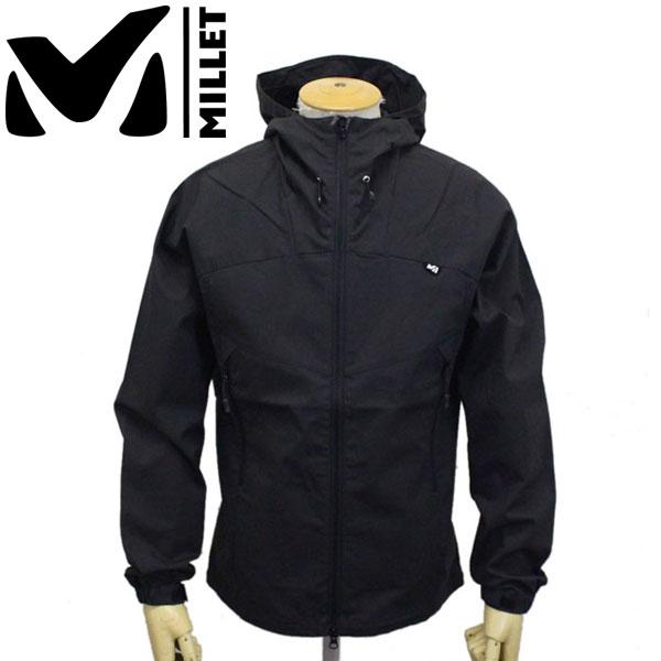 正規取扱店 MILLET (ミレー) MIV01756 STORM COTTON HOODIE JKT M ストームコットンフーディ ジャケット 0247BLACK-NOIR MI010