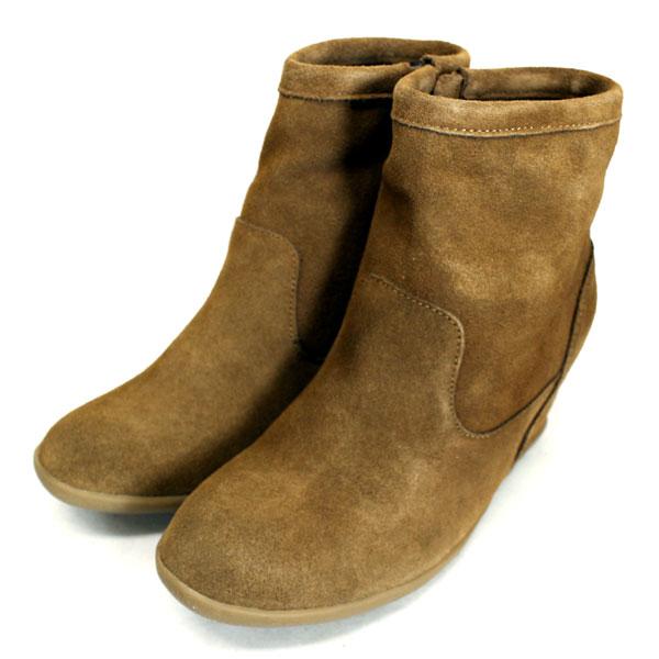 sale セール 正規取扱店 MINNETONKA(ミネトンカ) Side Zip Hidden Wedge(サイドジップヒドゥンウェッジブーツ) #84063 DUSTY BROWN レディース MT376