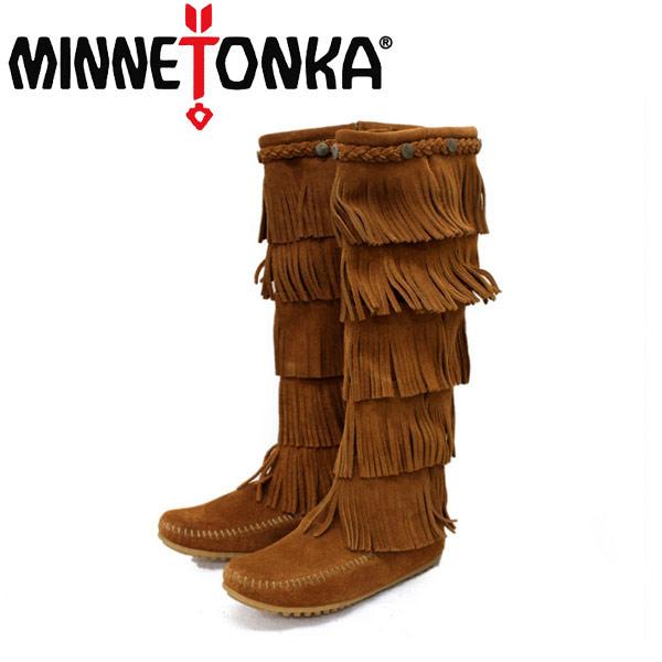 sale セール 正規取扱店 MINNETONKA(ミネトンカ)5-Layer Fringe Boot(5レイヤーフリンジブーツ)#1652 BROWN レディース MT056