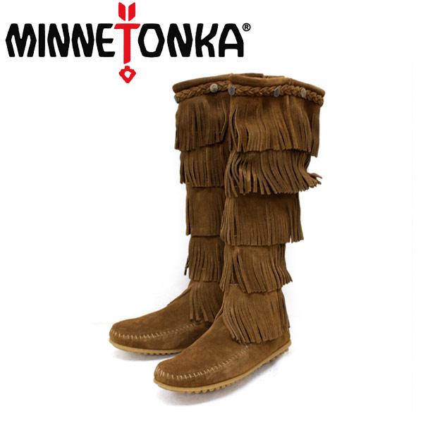 sale セール 正規取扱店 MINNETONKA(ミネトンカ)5-Layer Fringe Boot(5レイヤーフリンジブーツ)#1658 DUSTYBROWN レディース MT057