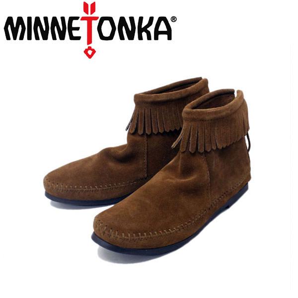 正規取扱店 MINNETONKA(ミネトンカ)Back Zipper Boots(バックジッパーブーツ)#283 DUSTY BROWN SUEDE レディース MT212