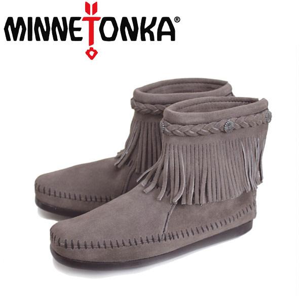 sale セール 正規取扱店 MINNETONKA(ミネトンカ) Hi Top Back Zip Boot(ハイトップ バックジップブーツ) #291T GREY レディース MT015