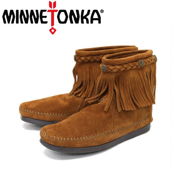 sale セール 正規取扱店 MINNETONKA(ミネトンカ) Hi Top Back Zip Boot(ハイトップ バックジップブーツ) #292 BROWN レディース MT016
