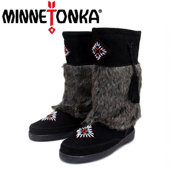 正規取扱店 MINNETONKA(ミネトンカ) Mukluk High Boot(マクラックハイブーツ) #3789 BLACK レディース MT260
