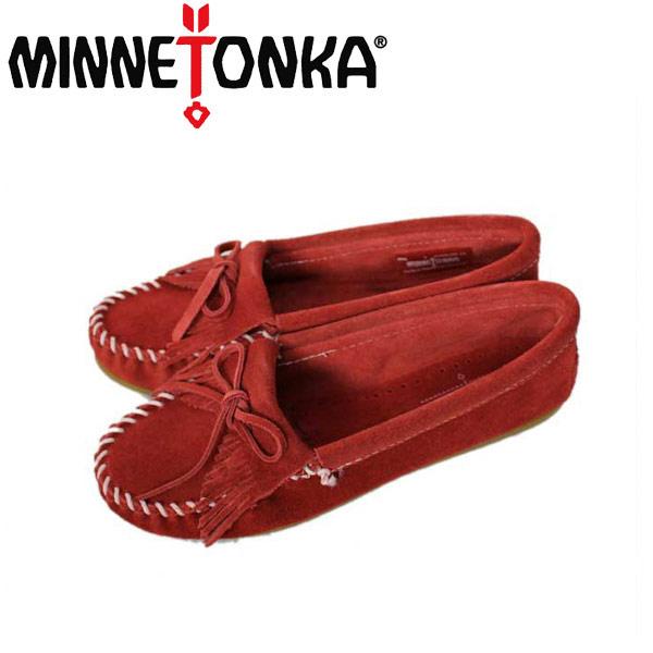 sale セール 正規取扱店 MINNETONKA(ミネトンカ) Kilty Suede Moc(キルティスウェードモック) #406 RED レディース MT029