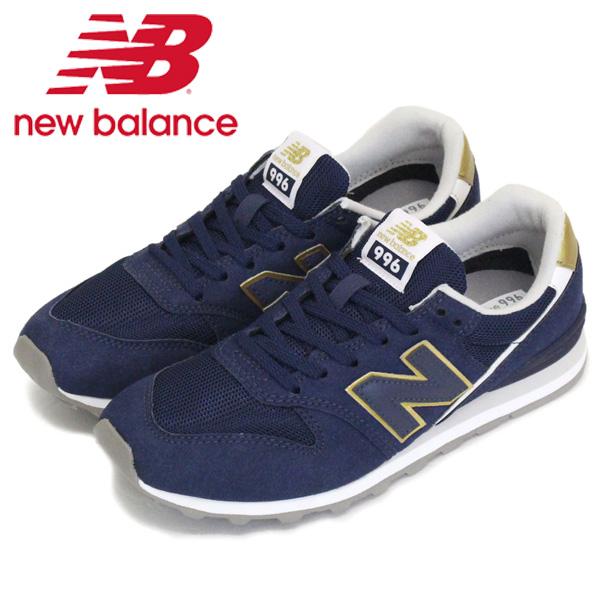 正規取扱店 new balance (ニューバランス) WL996 CF レディーススニーカー NAVY/GOLD NB710
