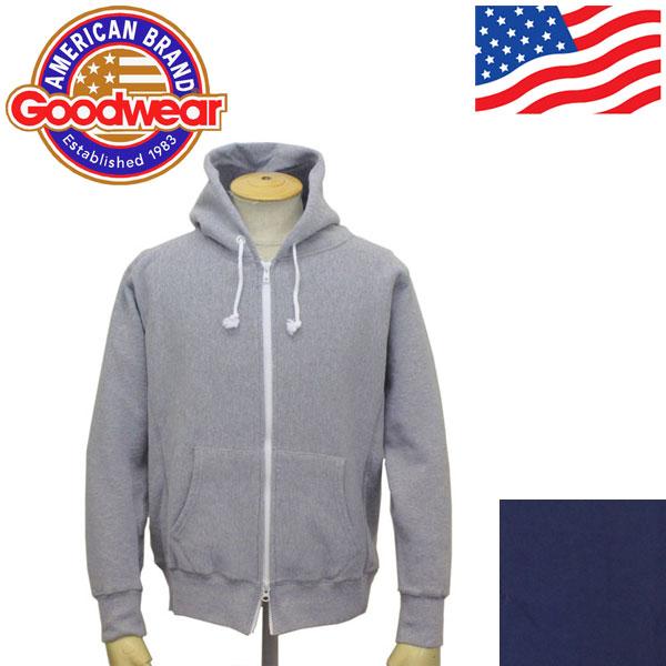 正規取扱店 Goodwear (グッドウェア) LS ZIP HOODIE 長袖ジップパーカー 全2色 GDW004