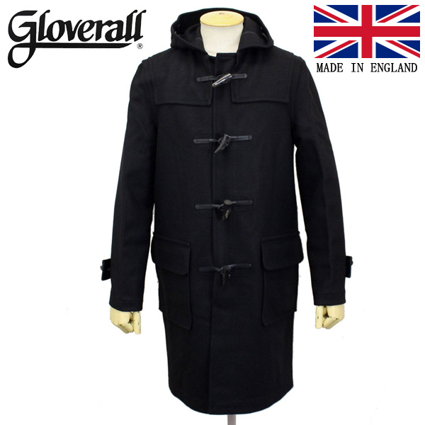 正規取扱店 GLOVERALL (グローバーオール) 3681-MM CLOTH ダッフルロングコート 日本別注 01-BLACK GLA001
