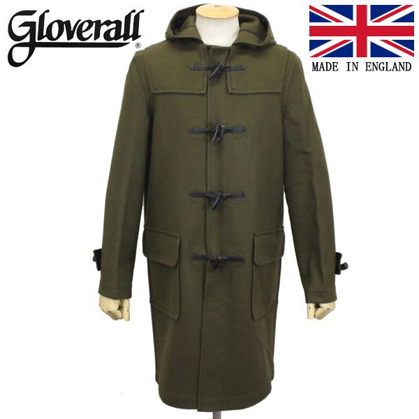 正規取扱店 GLOVERALL (グローバーオール) 3681-MM CLOTH ダッフルロングコート 日本別注 05-KALE GLA003
