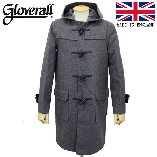 正規取扱店 GLOVERALL (グローバーオール) 3681-MM CLOTH ダッフルロングコート 日本別注 06-GREY GLA002