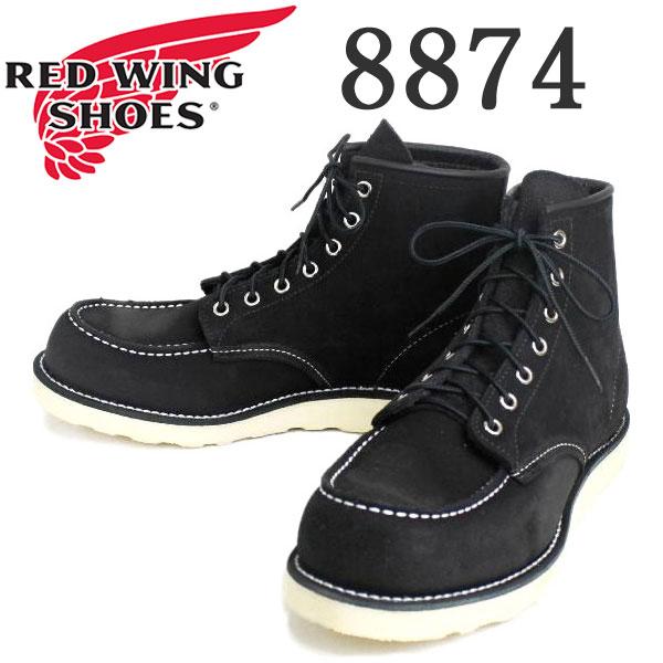 正規取扱店 RED WING(レッドウィング) 8874 6inch CLASSIC MOC TOE ブーツ Traction Trad Sole BLACK ABILENE ROUGHOUT