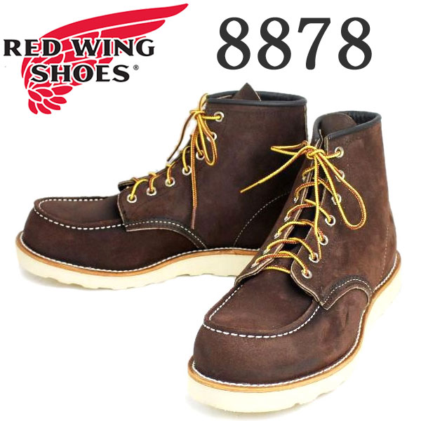 正規取扱店 RED WING(レッドウィング) 8878 6inch CLASSIC MOC TOE ブーツ Traction Trad Sole JAVA MULESKINER ROUGHOUT