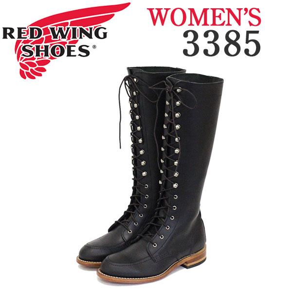 正規取扱店 REDWING (レッドウィング) 3385 GLORIA グロリア レースアップトールブーツ レディース ブラックバウンダリー