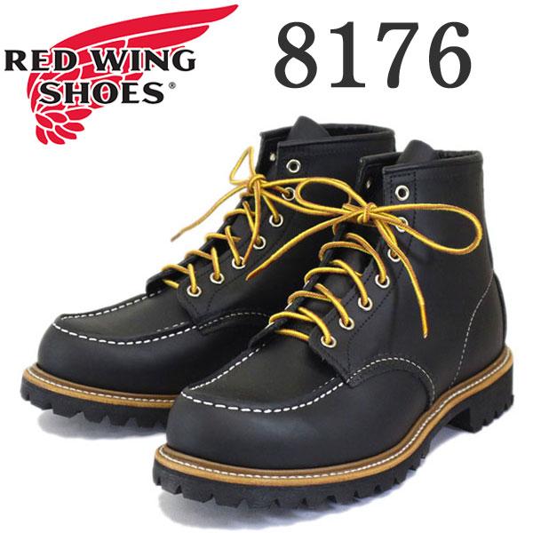 正規取扱店 2016-2017年 新作 RED WING (レッドウィング) 8176 Classic Work 6inch Moc-toe/Lug-sole (6インチモックトゥ/ラグソール) ブラッククローム