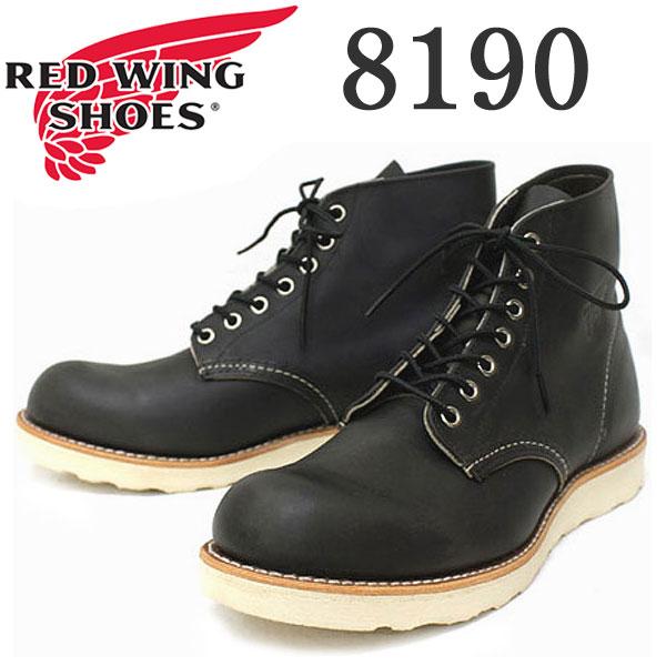 正規取扱店 REDWING (レッドウィング) 8190 ROUNDE-TOE BOOTS チャコール ラフ&タフ
