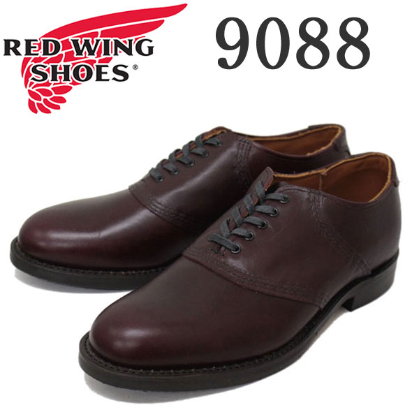 正規取扱店 2016新作 RED WING(レッドウィング) 9088 Mil-1 Saddle Oxford (ミルワンサドルオックスフォード) プレーントゥ ローカットブーツ ブラックチェリー