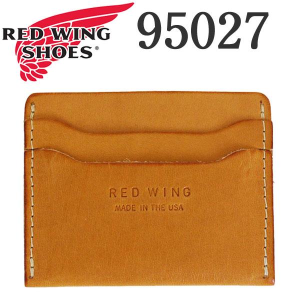 正規取扱店 2018年 新作 REDWING (レッドウィング) 95027 Card Holder (カードホルダー) ハーマンオークブライドル (タン)