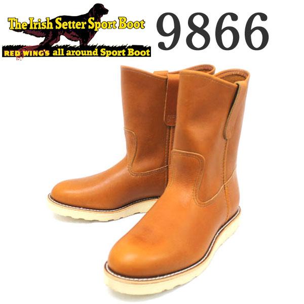 正規取扱店 REDWING (レッドウィング) 9866 9inch PECOS BOOTS ペコスブーツ ゴールドラセットセコイア 犬タグ