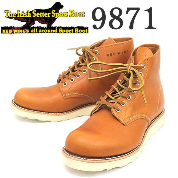 正規取扱店 REDWING (レッドウィング) 9871 6inch CLASSIC ROUND TOE ブーツ ゴールドラセットセコイア 犬タグ